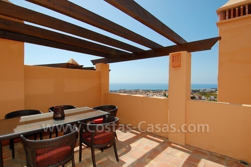 Exclusive modern andalusian styled townhouses for sale close to East Marbella at the Costa del Sol 3