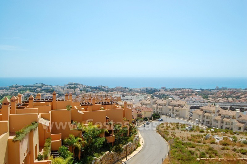 Exclusive modern andalusian styled townhouses for sale close to East Marbella at the Costa del Sol 8