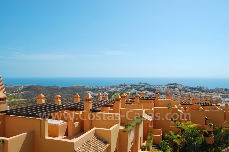 Exclusive modern andalusian styled townhouses for sale close to East Marbella at the Costa del Sol 7