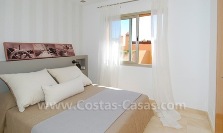 Exclusive modern andalusian styled townhouses for sale close to East Marbella at the Costa del Sol 25