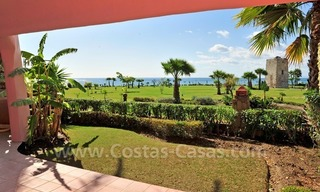 Frontline beach luxury apartment for sale in an exclusive beachfront complex between Marbella and Estepona 1