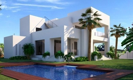 Modern luxury villa for sale in contemporary style on the Golden Mile in Marbella 0