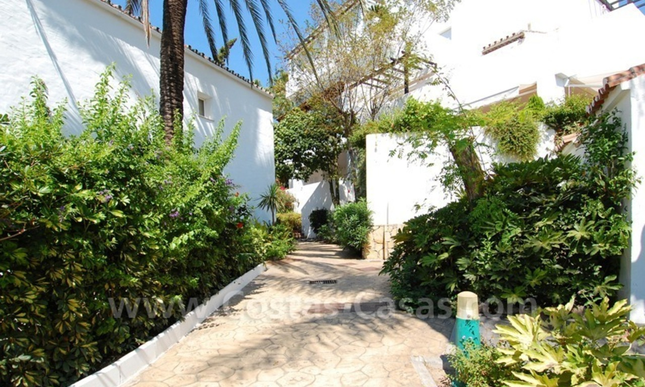 Frontline beach townhouse for sale in Marbella east 6