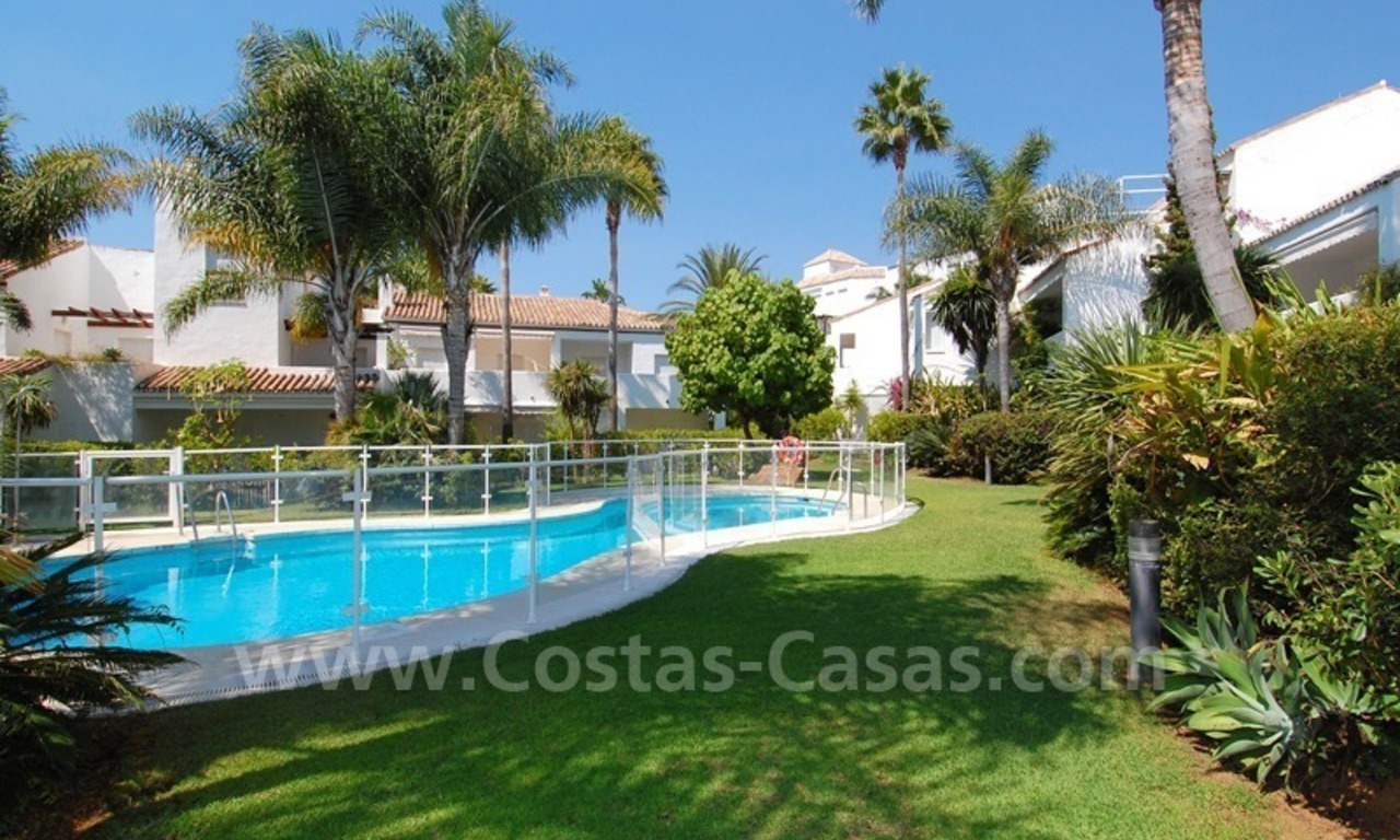 Frontline beach townhouse for sale in Marbella east 2