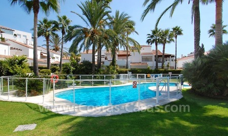 Frontline beach townhouse for sale in Marbella east 3