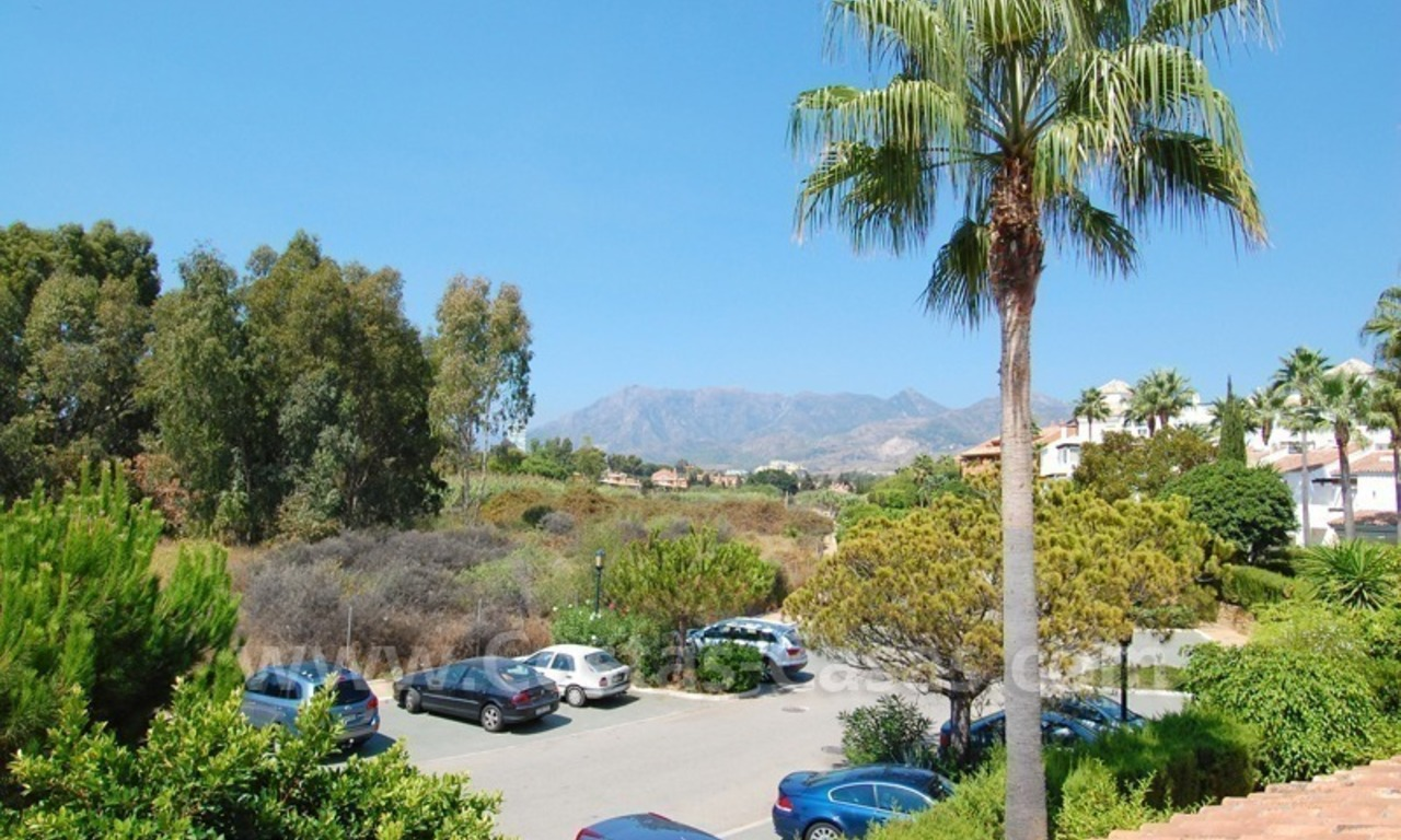 Frontline beach townhouse for sale in Marbella east 1