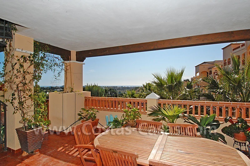 Modern andalusian styled 4 bed-roomed duplex penthouse for sale, Benahavis – Marbella - Estepona
