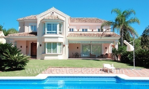 Modern Spanish style beachside villa for sale in Eastern Marbella