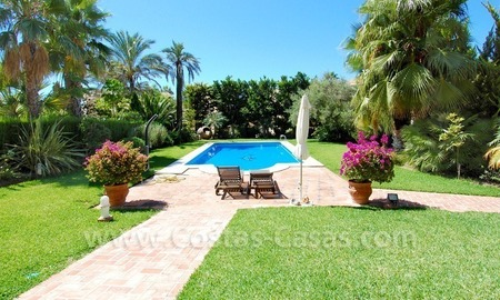 Beachside modern Spanish style villa to buy in Marbella East. 4