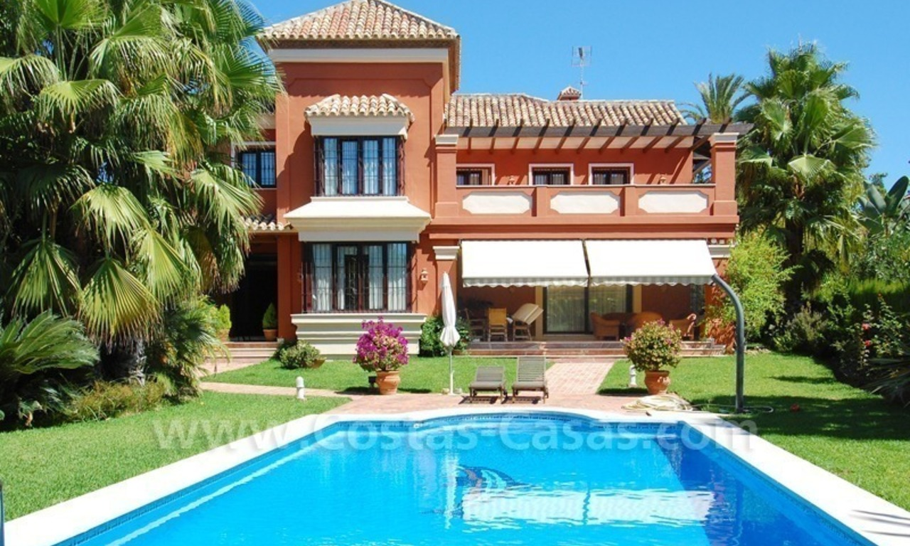 Beachside modern Spanish style villa to buy in Marbella East. 1