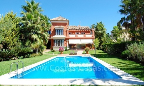 Beachside modern Spanish style villa to buy in Marbella East.