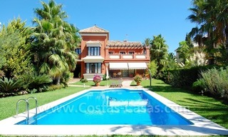 Beachside modern Spanish style villa to buy in Marbella East. 0