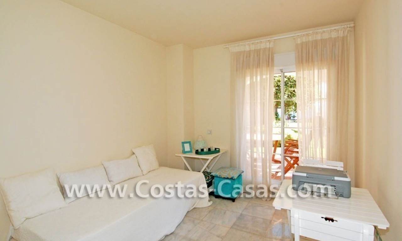 First line beach apartment for sale in Frontline beach gated complex at San Pedro te Marbella 9