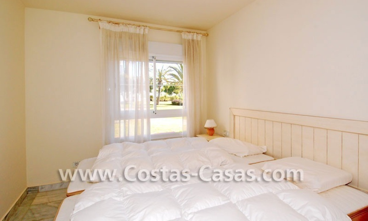 First line beach apartment for sale in Frontline beach gated complex at San Pedro te Marbella 10