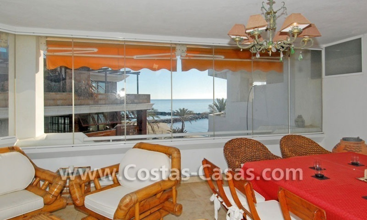 Beach front luxury penthouse apartment to buy in Puerto Banus – Marbella 2