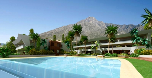 Luxury modern style new apartments and penthouses for sale in Golden Mile - Marbella