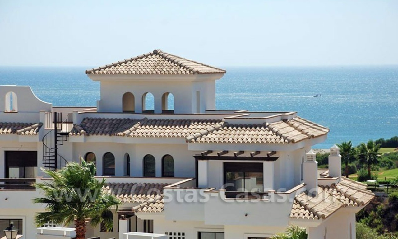 Bargain Luxury frontline golf and first line beach apartments for sale at the Costa del Sol 6