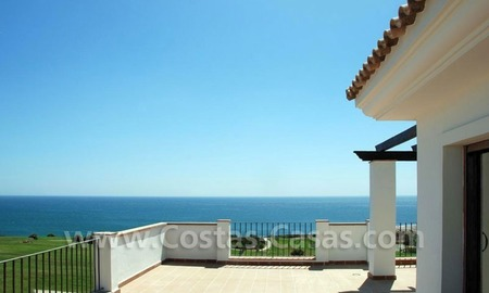 Bargain Luxury frontline golf and first line beach apartments for sale at the Costa del Sol 0