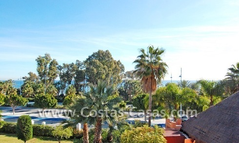 Luxury apartments and penthouses for sale on beachfront complex in Marbella