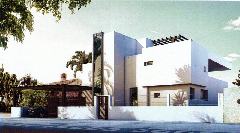 Marbella for sale beachfront modern new villa to buy for Facade moderne villa
