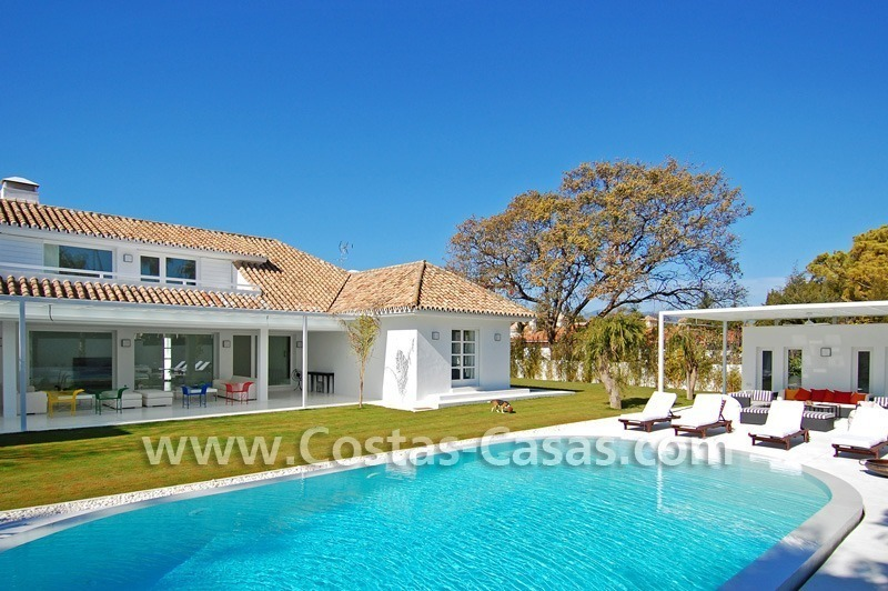 Completely renovated modern andalusian villa close to the beach for sale in Marbella