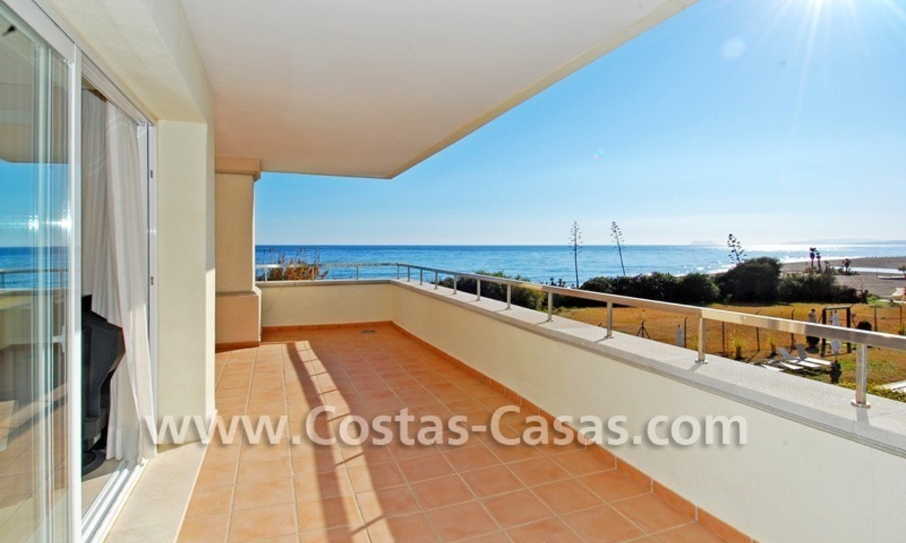 Luxury front line beach apartment for sale in an exclusive beachfront complex, New Golden Mile, Marbella - Estepona 1