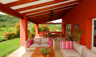 First line golf modern andalusian styled luxury villa for sale in Marbella - Benahavis 1