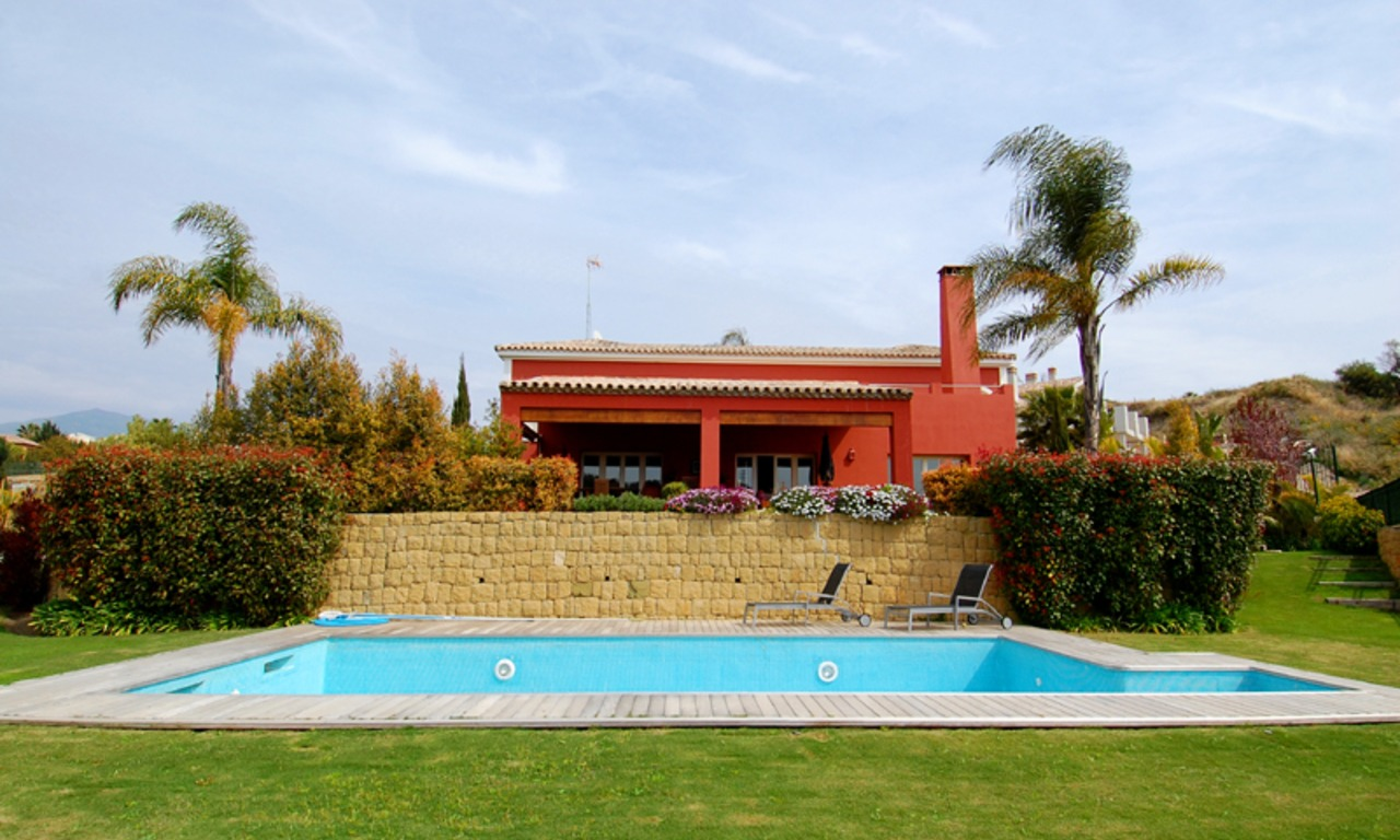 First line golf modern andalusian styled luxury villa for sale in Marbella - Benahavis 3