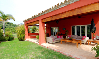 First line golf modern andalusian styled luxury villa for sale in Marbella - Benahavis 2