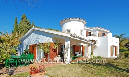 Bargain Andalusian style villa to buy on the Golden Mile in Marbella