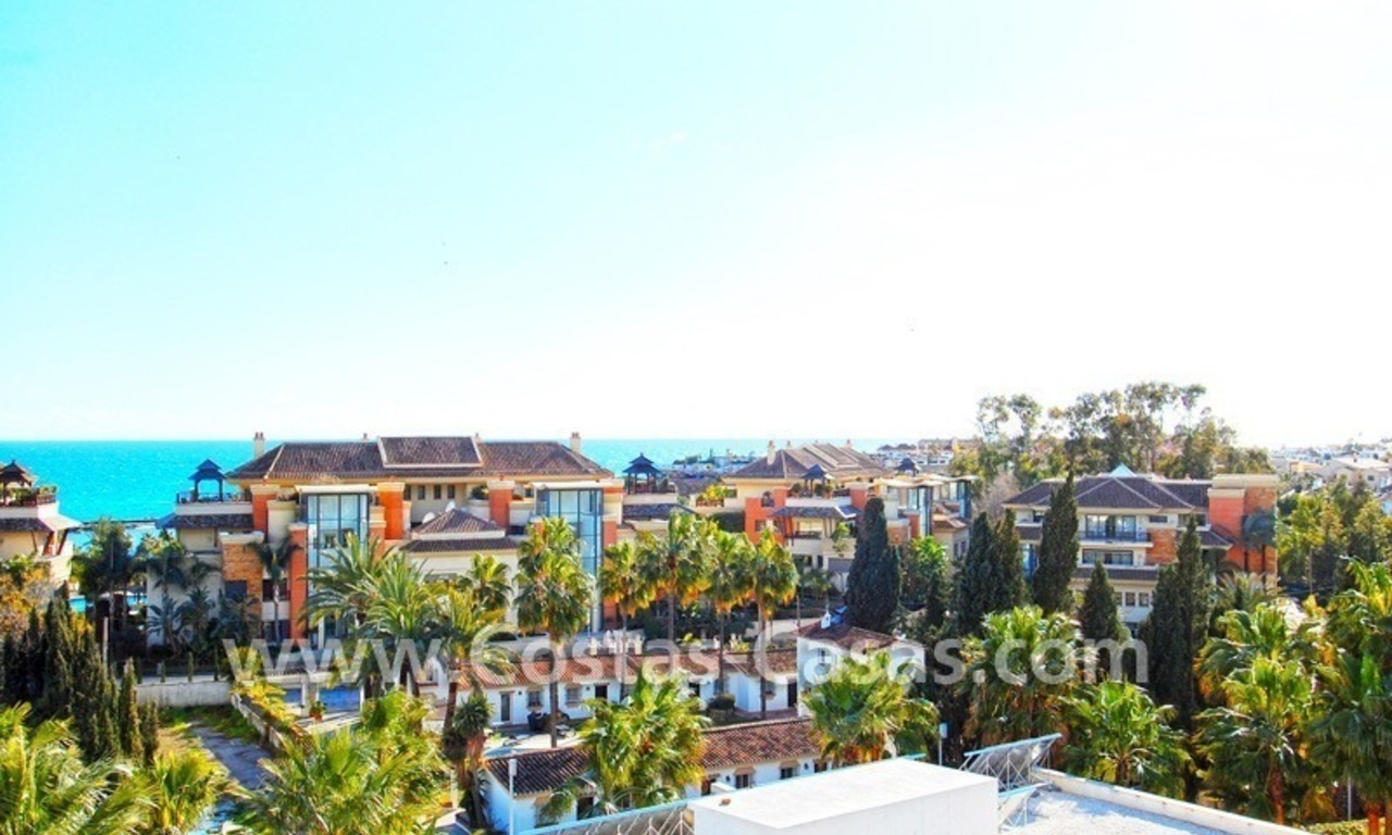 Spacious luxury beachside apartment for sale in Nueva Andalucía nearby Puerto Banus in Marbella 0