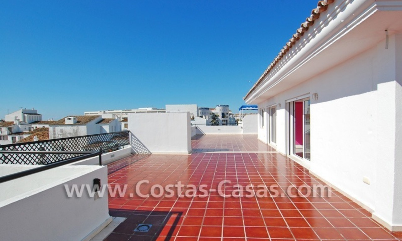 Double penthouse apartment to buy in central Puerto Banus, Marbella 1
