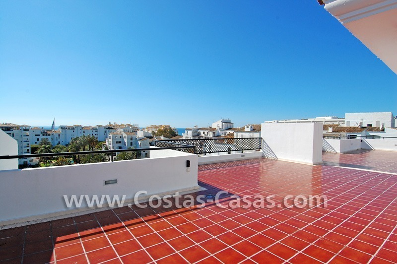 Double penthouse apartment to buy in central Puerto Banus, Marbella