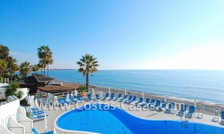 Frontline beach detached villa for sale on gated beachfront complex, Marbella - Estepona