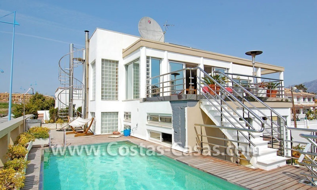 Bargain modern styled villa nearby the beach for sale in Marbella 0