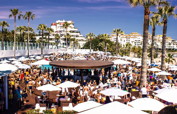 Champagne party May in Ocean Club Marbella