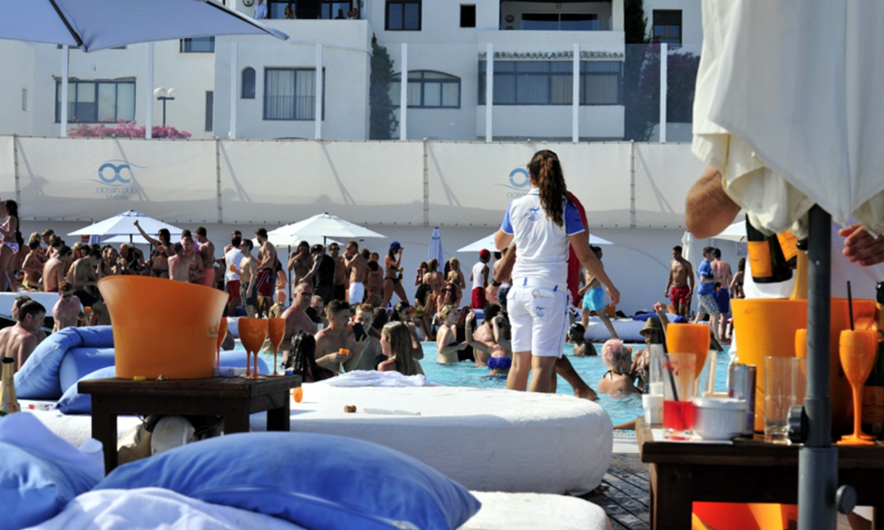 Champagne party May in Ocean Club Marbella 2