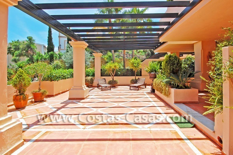 Large luxury double ground floor apartment for sale in Nueva Andalucia – Marbella