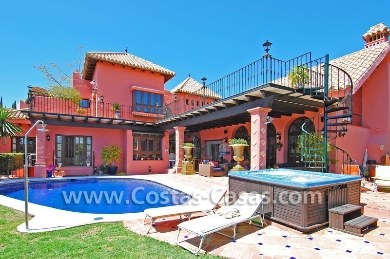 Exclusive Andalusian styled villa to buy on the Golden Mile in Marbella