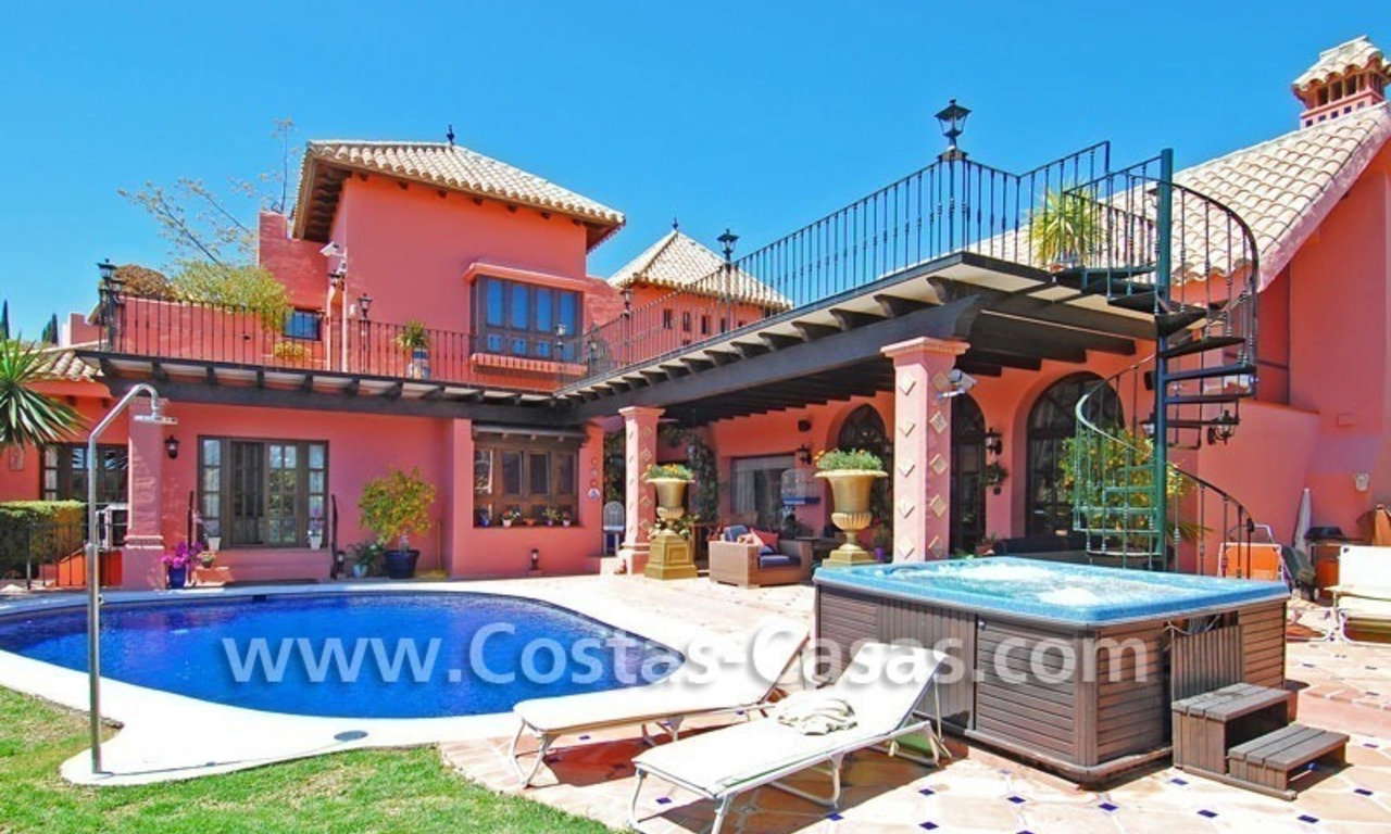 Exclusive Andalusian styled villa to buy on the Golden Mile in Marbella 0