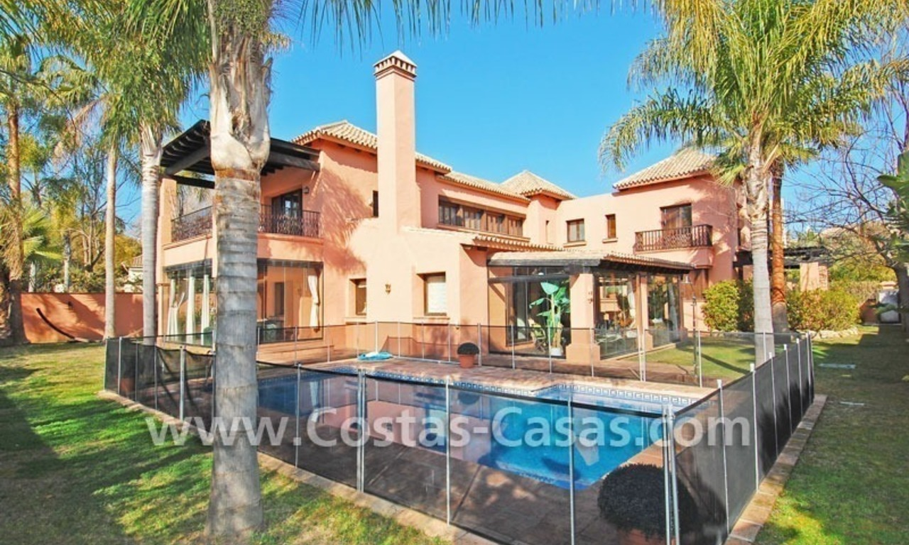 Beach side Andalusian styled luxury villa for sale in Puerto Banus – Marbella 1