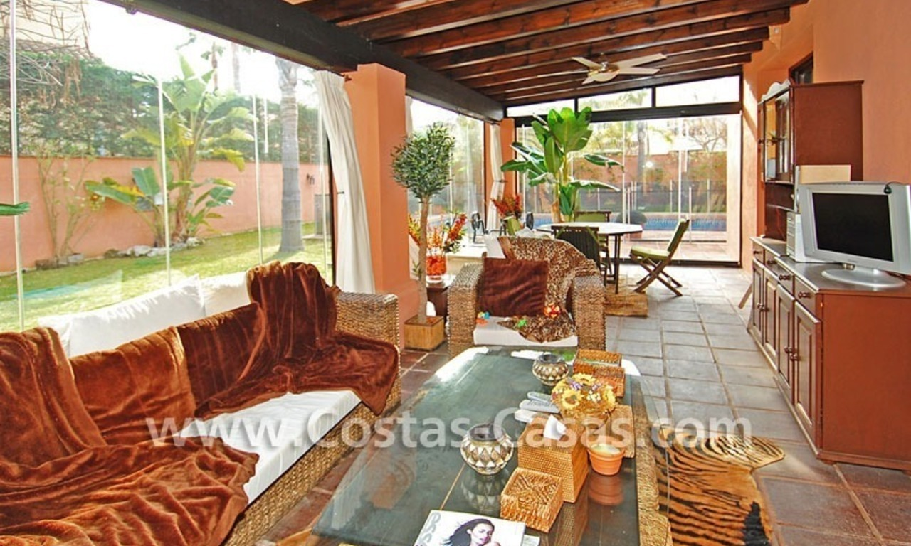 Beach side Andalusian styled luxury villa for sale in Puerto Banus – Marbella 8