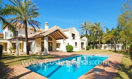 Beach side Andalusian styled villa for sale in Nueva Andalucia – Puerto Banus – Marbella 0