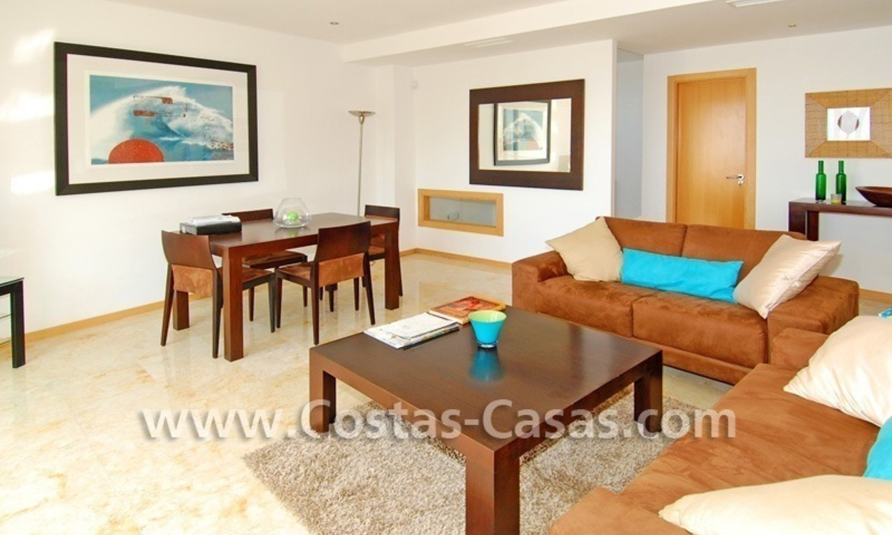 Modern style luxury apartment for holiday rent in Marbella 2
