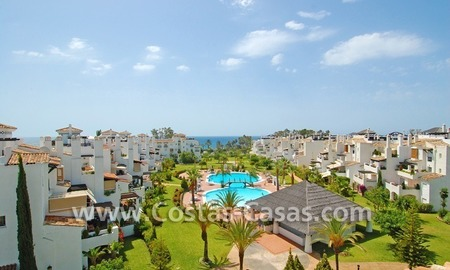 4-bedroomed penthouse apartment for sale on the beachfront complex in Marbella 0