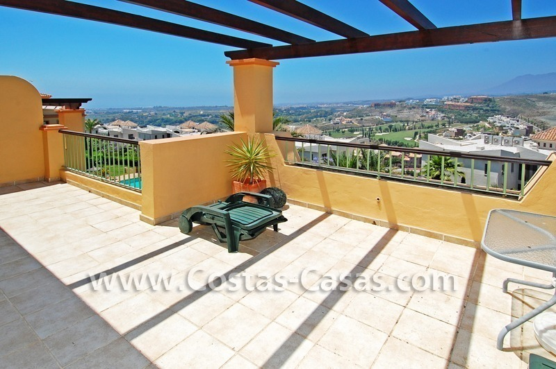 Bargain luxury golf penthouse apartment to buy in a golf resort, Benahavis - Estepona - Marbella