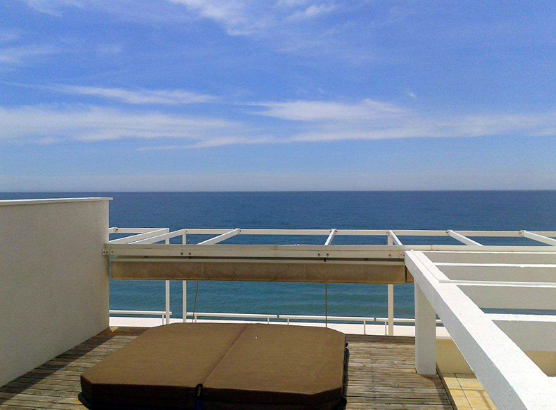 Large double penthouse for sale, frontline beach, between Marbella and Estepona