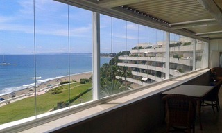 Large double penthouse for sale, frontline beach, between Marbella and Estepona 2