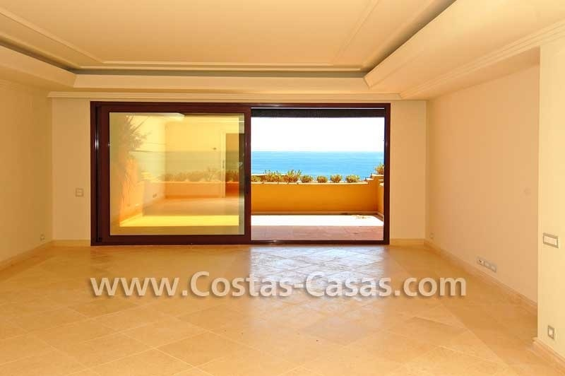 Luxury frontline beach apartment for sale, first line beach complex, New Golden Mile, Marbella -Estepona 6