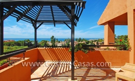 Beachside luxury penthouse apartment to buy in Marbella